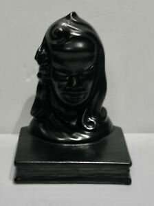 ROSEVILLE MATTE Black Glaze Burmese Bookend 71B