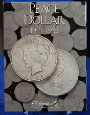 H.E. Harris  Peace Silver Dollar 1921 - 1935 Coin Folder, Album Book #2709