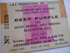 DEEP PURPLE 1973 Original__CONCERT TICKET STUB__West Palm Beach__EX+