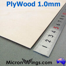 Plywood Sheet 1.0mm Thin Marine Hobby Ply Plywood