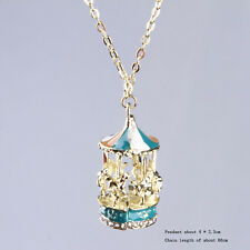 Surprise Carousel Merry Go Round Horse Pendant Sweater Long Chain Necklace Hot