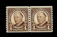 US 1930 Sc# 686 1 1/2 c Harding Coil Pair  Mint NH-Vivid Color - Centered - GEM