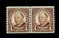 US 1930 Sc# 686 1 1/2 c Harding Coil Pair  Mint NH-Vivid Color - Centered - GEM