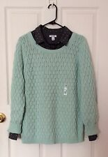 Old Navy Women's Honeycomb Po Peppermint Sweater.Size Large.New With Tags