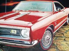 1968 PLYMOUTH BARRACUDA ORIGINAL AD*340/383/v8 engine/Formula S/door/hood/bumper
