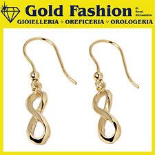 Orecchini in argento tit 925 placcato oro Thy Italy collezione Infinity