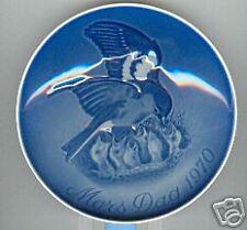 Bing & Grondahl Mother's Day Plate 1970 Bird & Babies