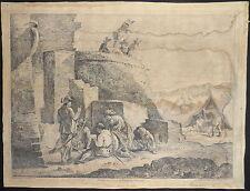 1750-SOLDATI  GIOCANO A CARTE-Quatre soldats jouant aux cartes-ZILOTTI-SIMONINI