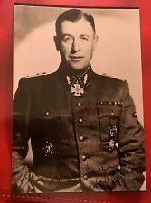 World War II German Autographed Photo of Gustav Lombard Dated 1942 & Signed
