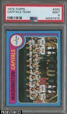 1979 Topps Hockey #260 Washington Capitals Team PSA 9 MINT