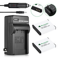 2 NB-6LH NB-6L Battery&Charger for Canon Powershot D10 S95 SD1300 SX530 SX510 HS
