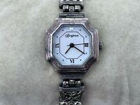 Brighton BARCELONA Wrist Watch Ladies Silver Tone Analog Japan Movement Watch