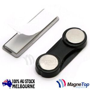 100x Mangetop Magnetics Name Tag Badge Magnet /w Adhesive 2MG3