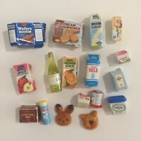Sylvanian Families Calico Critters Supermarket Replacement 17 Groceries Damaged