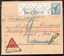 DR 1926 W21.3 auf NACHNAHMEKARTE BRIEFTEIL(A5479b