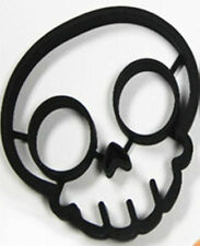 Skull Halloween Egg, Pancake or Cookie, Silicone Mold NEW