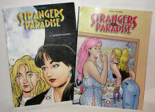 BD. STRANGERS IN PARADISE  Tome 4 et 5  par terry moore, édition Bulle Dog