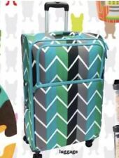 """French Bull 28"""" Spinner Carry-On Luggage ~ Black Teal Chevron Green Gray NEW NWT"""
