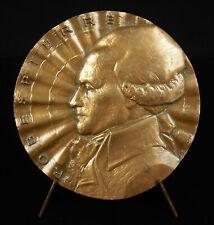 Médaille Maximilien de Robespierre Révolution Française extrait d'un discours