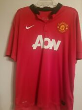 Mens Nike Dry Fit Manchester United Polo Jersey Shirt Red Short Sleeve Sz XXL