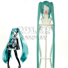 Anime VOCALOID Hatsune Miku Cosplay Wig + 2 Clip on Ponytail COS-042A