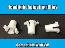 10x CLIPS FOR VW GOLF MK2 & JETTA HEADLAMP HEADLIGHT ADJUSTING SCREW
