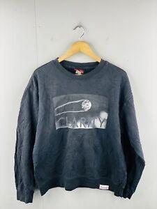 Diamond Supply Co Men's Vintage Long Sleeve Fleece Pullover Jumper Size M Black