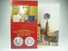 *** 5 EURO Gedenkmünze ÖSTERREICH 2006 Wolfgang Amadeus Mozart im Folder Silber