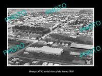 OLD LARGE HISTORIC PHOTO OF ORANGE NSW AERIAL VIEW OF THE TOWN c1930