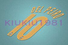 Juventus Del Piero #10 2004-2005 Awaykit Nameset Printing