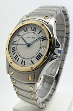 Authentic Cartier Santos Ronde 1910 33mm 18k Yellow Gold & Steel Automatic Watch