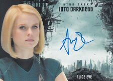 STAR TREK BEYOND MOVIE ALICE EVE (CAROL MARCUS) AUTOGRAPH INTO DARKNESS DESIGN L