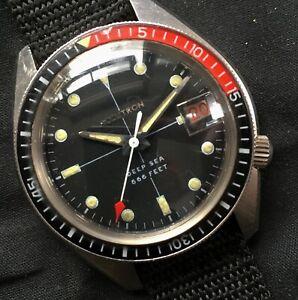 BULOVA  ACCUTRON DEEP SEA - 40MM VINTAGE 1970 TUNING FORK DIVERS WATCH