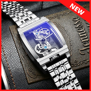 Mens Silver Bridge Manual Mechanical Watch - Stainless Steel DIASTERIA 1688