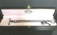 JUICY COUTURE Pave' Heart Banner Starter Charm Bracelet