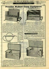 1929 Paper Ad 3 Pg Prentiss Waber Camp Stove Ice Box Coleman Lantern Lamp Shade