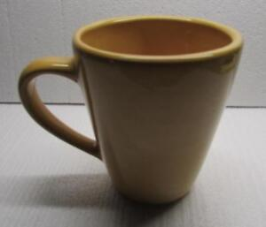POTTERY BARN Sausalito AMBER Yellow Gold COFFEE CUP - EXCELLENT CONDITION
