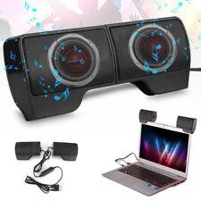 USB Clip-On Computer Sound Bar Stereo Laptop Desktop PC Notebook Mini Speakers