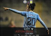 * 2020/21 - MAN CITY WOMENS HOME PROGRAMMES - CHOOSE FROM LIST *