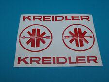 Kreidler Mofa Schriftzug + Logo  MF Aufkleber Sticker Schriftzug Dekor Hellrot