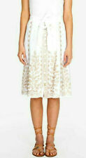 Johnny was Tasya Skirt linen white button down/neutral embroidery S