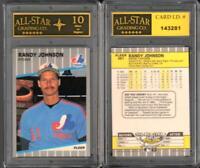 Randy Johnson 1989 Fleer Rookie Card #381 GRADED ASG 10 MINT  #D