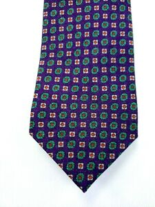 Peter Millar Flower Box Print Tie Lavender NWT $115 Made in Italy