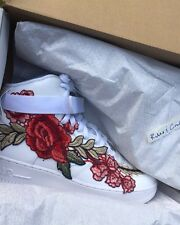 Custom Nike Air Force 1 Flowerbomb Sz 12.5 Rose High Jordan Huarache Kanye Yeezy