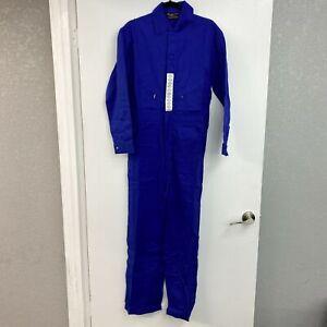 NWT Walls Work Coveralls Snap Up Jumpsuit Men's 36 Regular Fire Resistant Blue