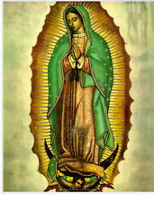 """Catholic Print Picture VIRGIN MARY of GUADALUPE Mary 8x10"""" ready to frame"""