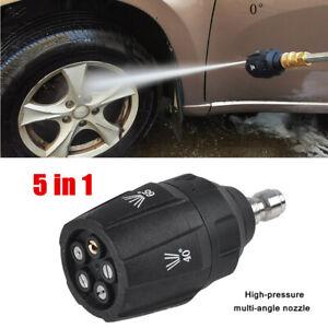 5 in1 Ultra-high Pressure Multi-angle Car Wash Quick Plug Universal Nozzle Part