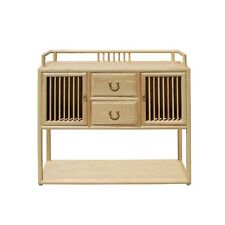 Chinese Raw Wood Open Display Storage Side Table Cabinet cs5191