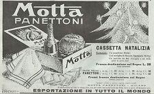 Y2052 Panettoni MOTTA - Cassetta Natalizia - Pubblicità del 1932 - Old advert