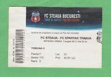 Orig.Ticket  Europa League  2012/13  STEAUA BUKAREST - SPARTAK TRNAVA  !  SELTEN